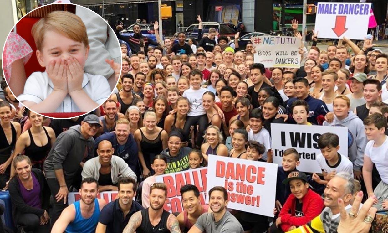 300 bailarines toman Times Square para defender la pasión por la danza del príncipe George