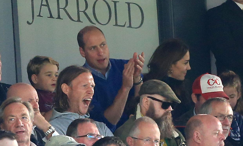 La divertida reacción del príncipe George ante los goles de su equipo
