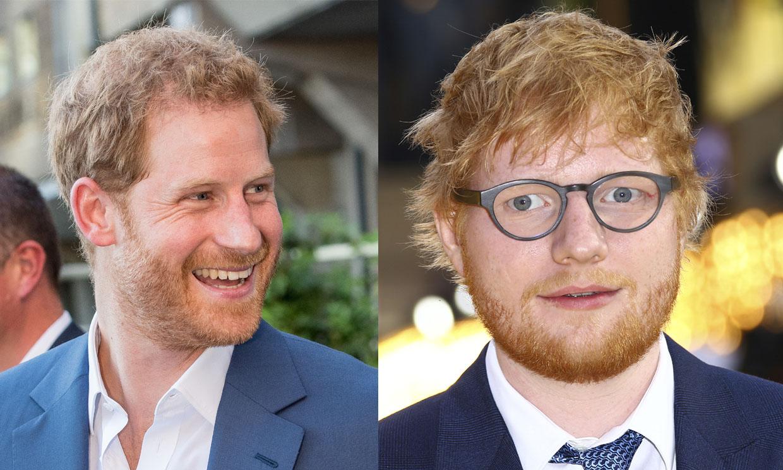 ¿Qué traman juntos el príncipe Harry y Ed Sheeran?