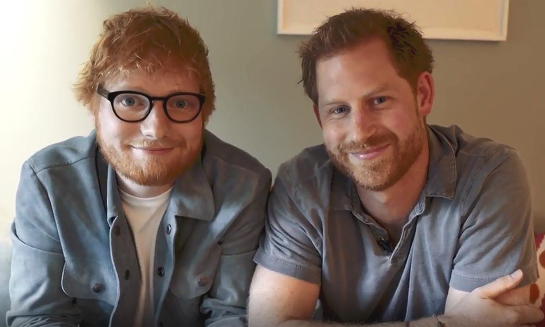 ¿Un club de 'pelirrojos unidos'? Esto es lo que tramaban el príncipe Harry y Ed Sheeran