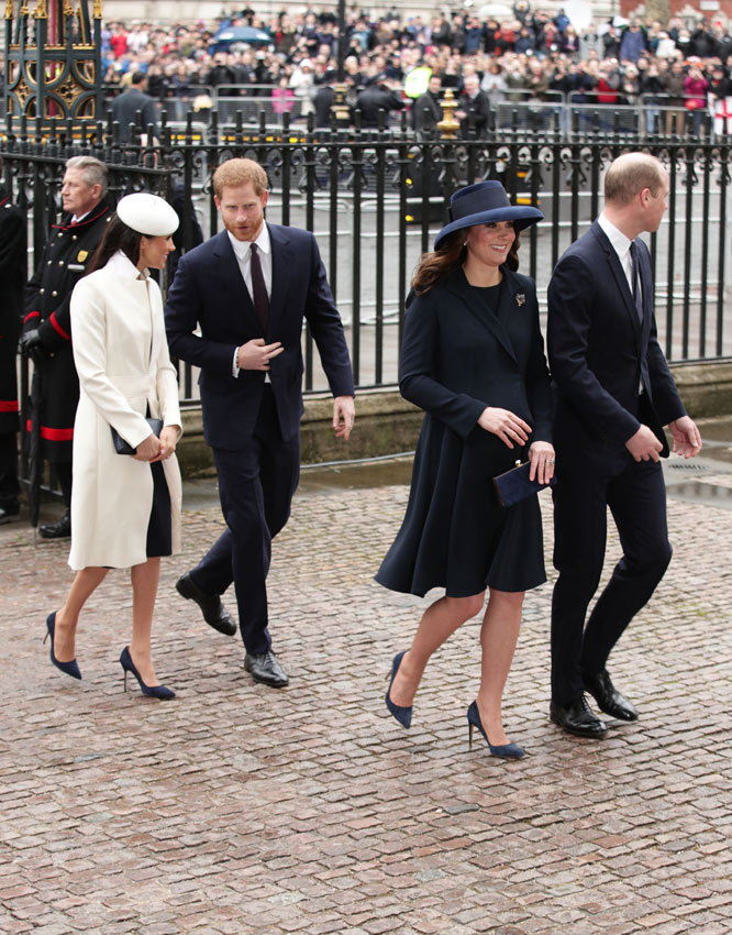 Meghan Markle, el príncipe Harry y los duques de Cambridge
