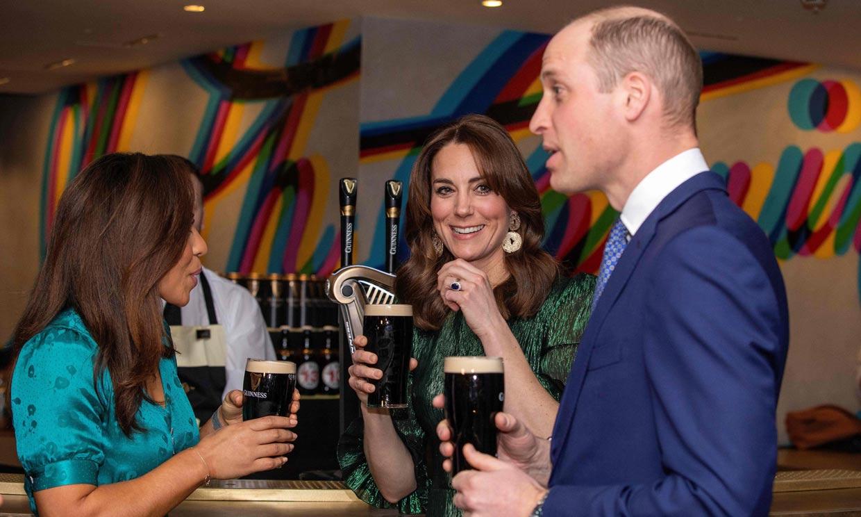 ¡No puede faltar una Guinness! El plan nocturno de los duques de Cambridge en su visita a Irlanda