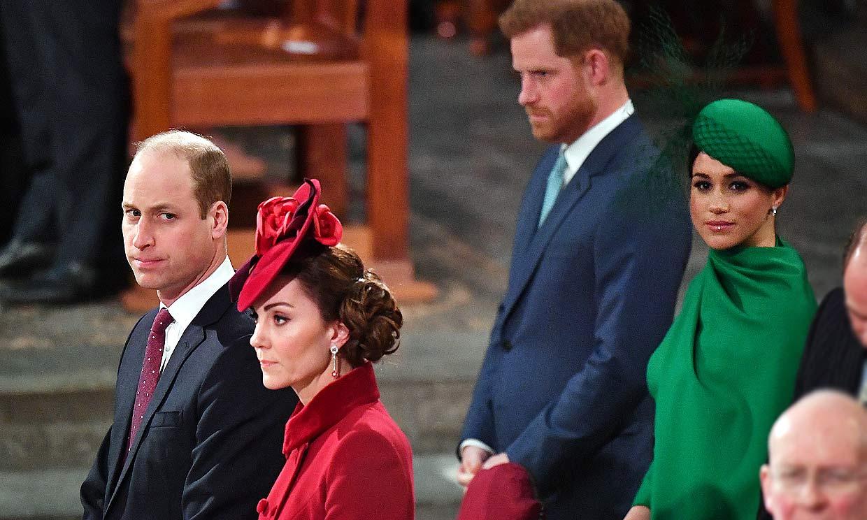 El encuentro que casi no fue: último acto juntos de los duques de Cambridge y los de Sussex
