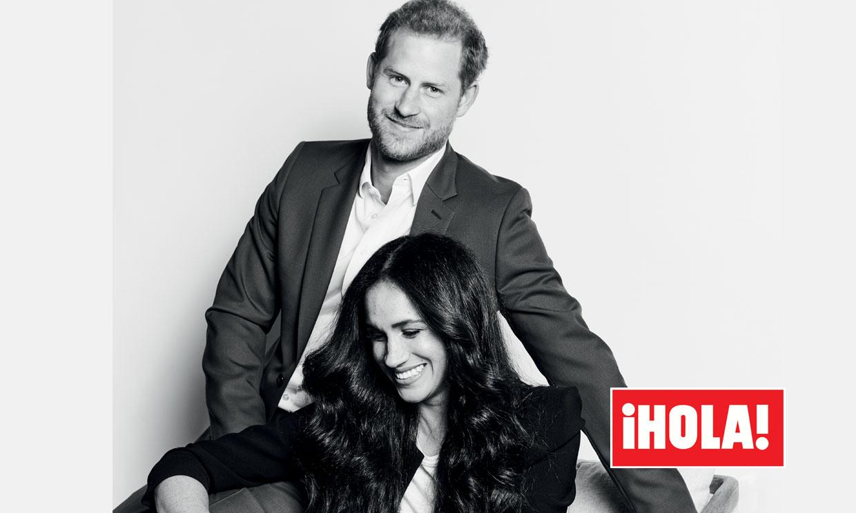 En ¡HOLA!: Harry y Meghan, primer posado como nuevos 'príncipes de América'