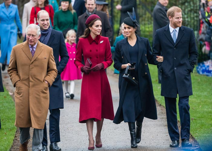Los Duques de Cambridge y Sussex junto al príncipe Carlos