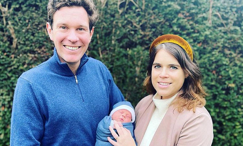 Eugenia de York y Jack Brooksbank posan por primera vez con su bebé