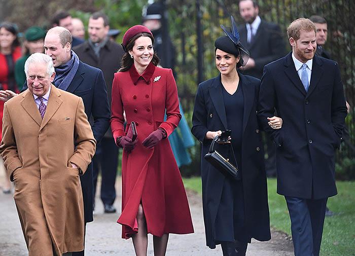 Los duques de Cambridge, de Sussex y el príncipe de Gales
