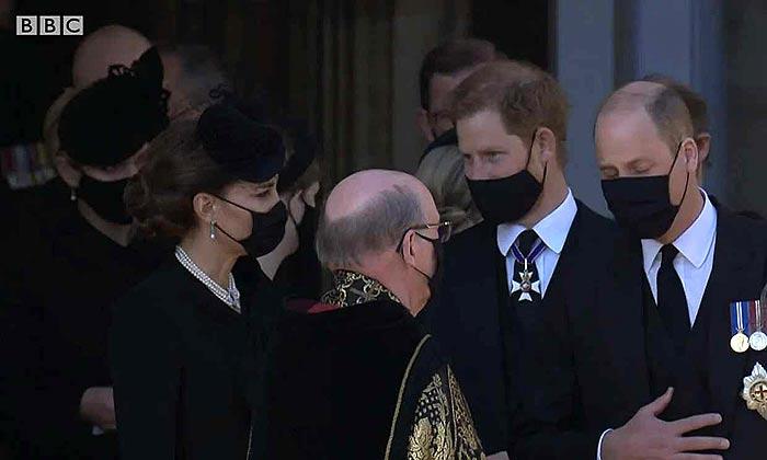 El príncipe Harry y los duques de Cambridge