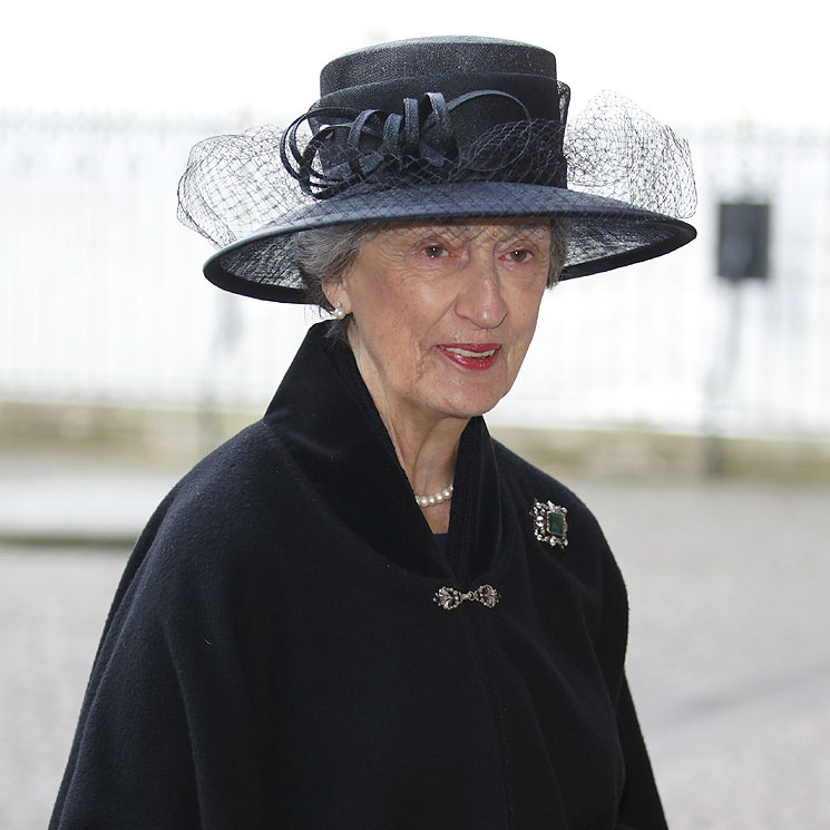 Conoce a Lady Susan Hussey, la dama que acompañó a la Reina durante el funeral del Duque