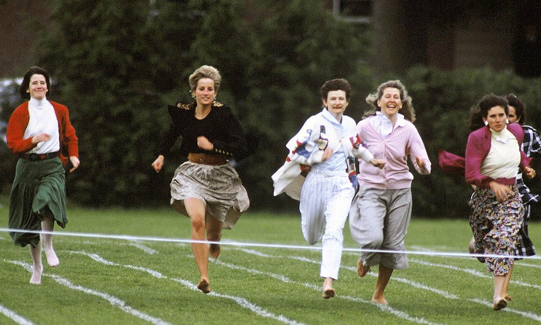 El día en que la princesa Diana se convirtió en la mejor atleta para ayudar al príncipe Harry