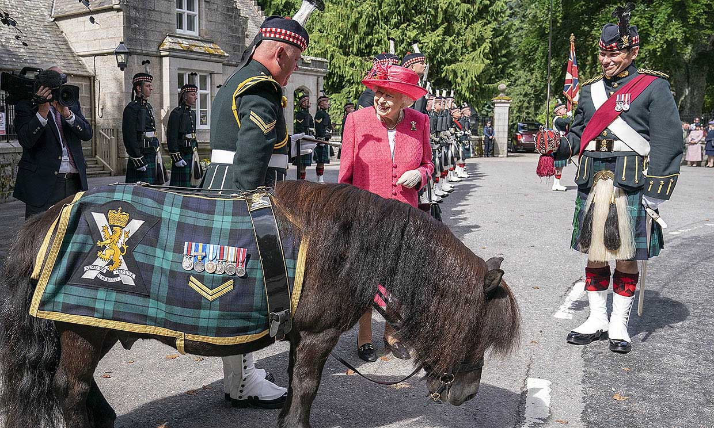 Isabel II se reencuentra con un viejo conocido ecuestre en su recepción de Balmoral