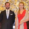 Stéphanie de Luxemburgo debuta como Princesa en su primer viaje oficial al extranjero