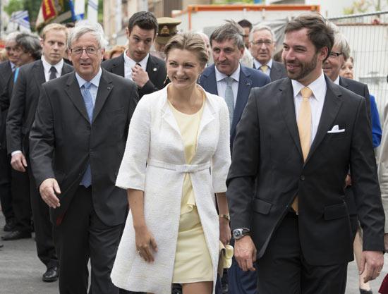 Stéphanie de Luxemburgo debuta en los actos conmemorativos del Día Nacional