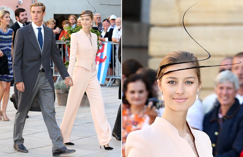 Pierre Casiraghi y Beatrice Borromeo llevan el 'glamour' de Mónaco a la boda real de Luxemburgo