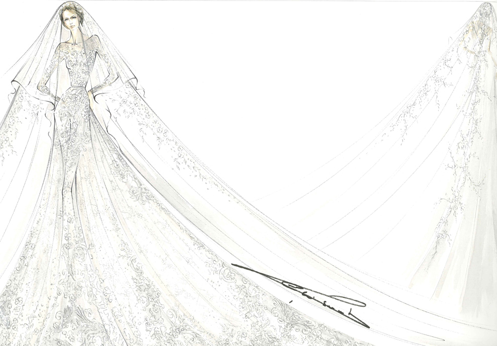 El vestido de Elie Saab, la tiara, el ramo... al detalle