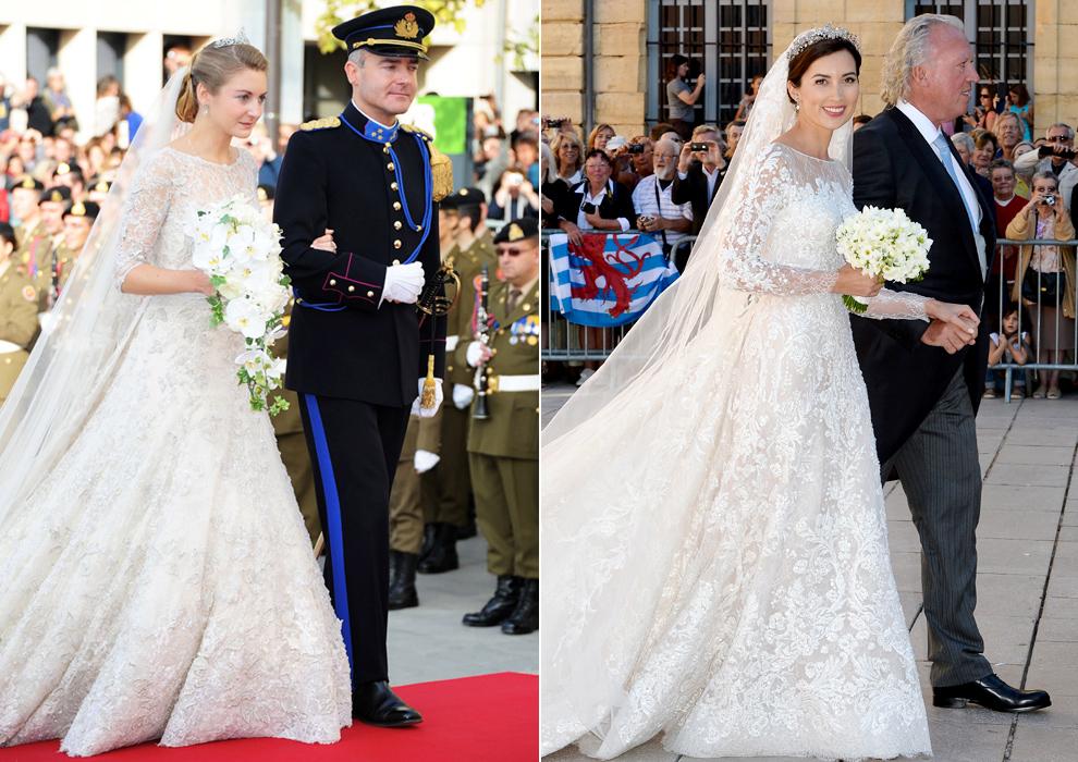 el vestido de elie saab, la tiara, el ramo al detalle