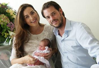 Los príncipes Félix y Claire de Luxemburgo nos presentan a su primera hija
