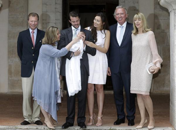 Bautizo real de la princesa Amalia de Luxemburgo