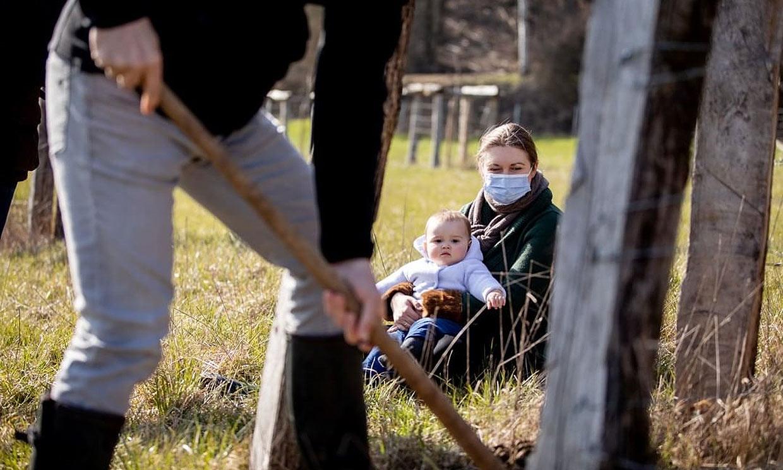 Guillermo y Stephanie de Luxemburgo pasan una jornada en el campo junto al pequeño Charles
