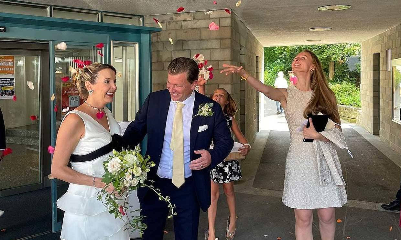 La original boda de Tessy de Luxemburgo en la cuenta atrás para dar a luz