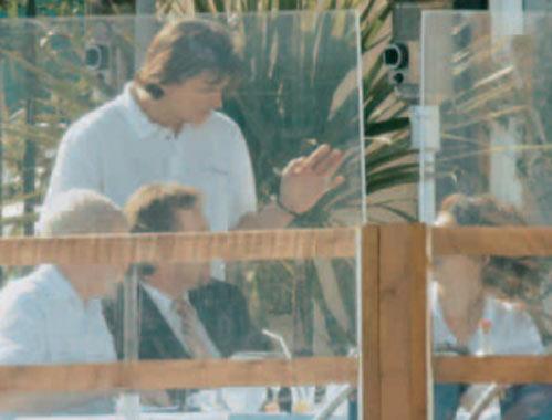 Primeras imágenes de Estefanía de Mónaco y Mathieu tras la muerte del príncipe Raniero