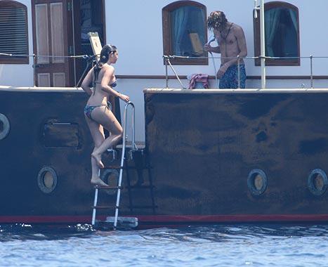 Andrea Casiraghi pasó unos días en Ibiza con su novia, Tatiana
