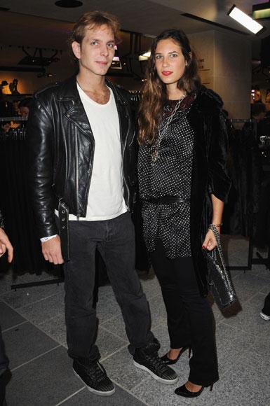 Andrea Casiraghi y Tatiana Santo Domingo, apuestan por la moda 'low-cost' en París