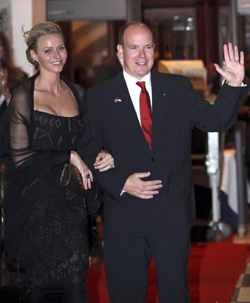 Alberto y Charlene de Mónaco a su llegada a Durban, Sudáfrica, la semana pasada
