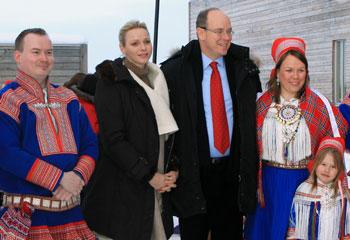 Alberto y Charlene de Mónaco visitan Laponia