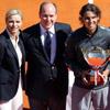 María Francisca Perelló celebra junto a la madre de Rafa Nadal el triunfo del tenista en Montecarlo