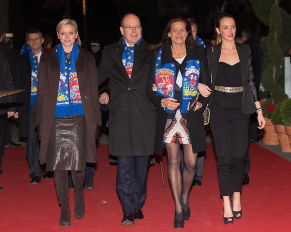 Paulina acapara todos los flashes en la inauguración del festival de circo de Montecarlo