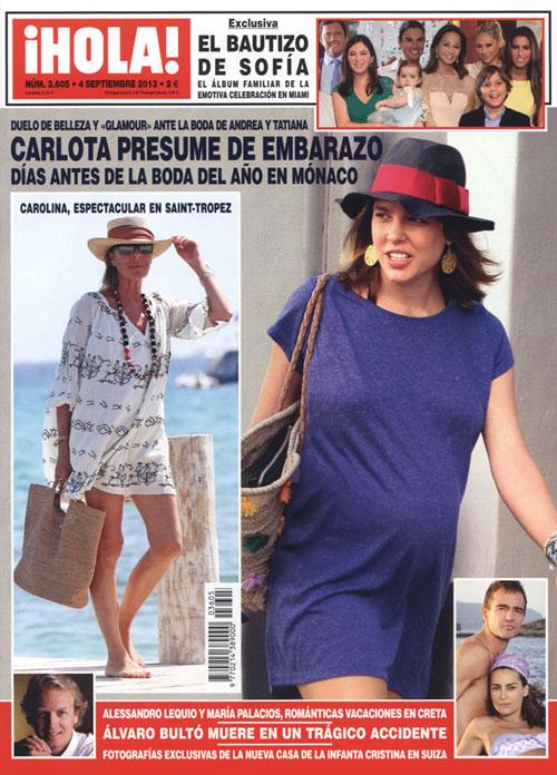 En ¡HOLA!: Carlota presume de embarazo días antes de la boda del año en Mónaco