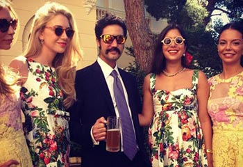 El espíritu 'boho-chic' conquista el palacio de Mónaco en la boda de Andrea y Tatiana