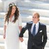 Fotografía oficial de la boda civil de Andrea Casiraghi y Tatiana Santo Domingo