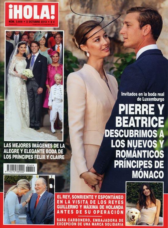 En ¡HOLA!: Pierre y Beatrice, descubrimos a los nuevos y románticos príncipes de Mónaco