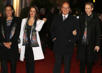 Paulina Ducruet se une a su madre y a sus tíos Alberto y Charlene en la apertura de otra gran temporada circense