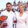 Charlene de Mónaco, de blanco impoluto en la final del torneo de tenis de Montecarlo