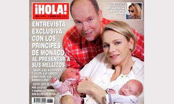 ¡HOLA! adelanta su edición con una entrevista exclusiva con los Príncipes de Mónaco al presentar a sus mellizos