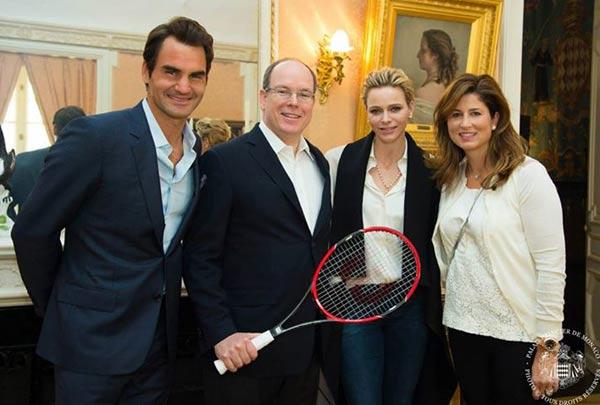 El tenis llega al Palacio de Mónaco con Roger Federer y su mujer