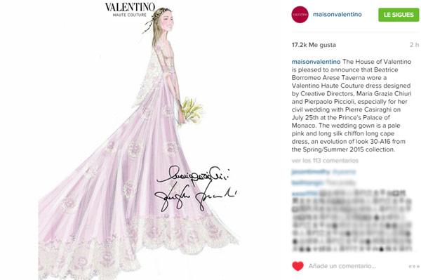 Valentino desvela el vestido con el que se casó Beatrice