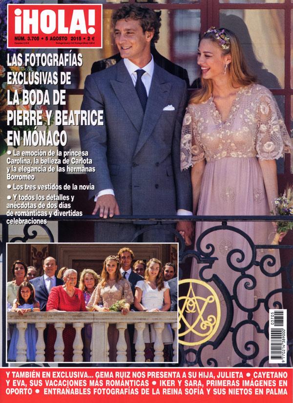En ¡HOLA!, las fotografías exclusivas de la boda de Pierre y Beatrice en Mónaco