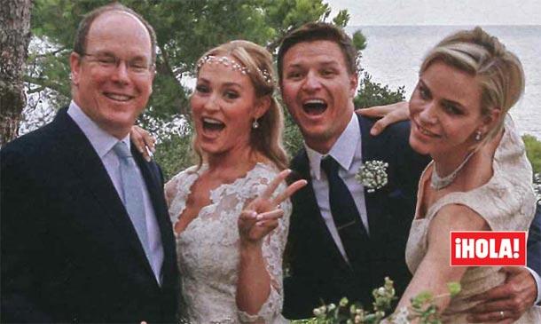 ¡HOLA! entra en exclusiva en la divertida y espectacular boda de Gareth, el hermano de la princesa Charlene de Mónaco
