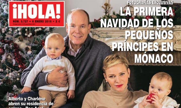 Fotografías exclusivas en ¡HOLA!, la primera Navidad de los pequeños príncipes en Mónaco