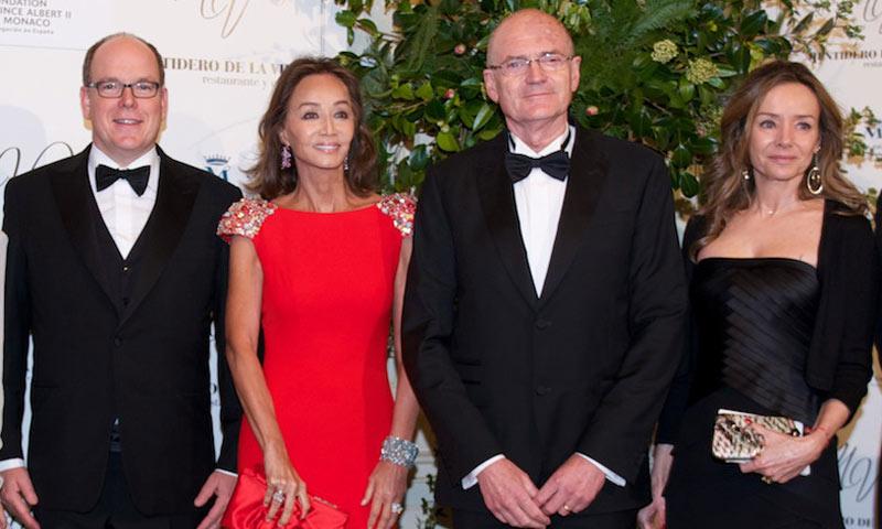 Alberto de Mónaco, de cena en Madrid con Isabel Preysler, Miriam Ungría...