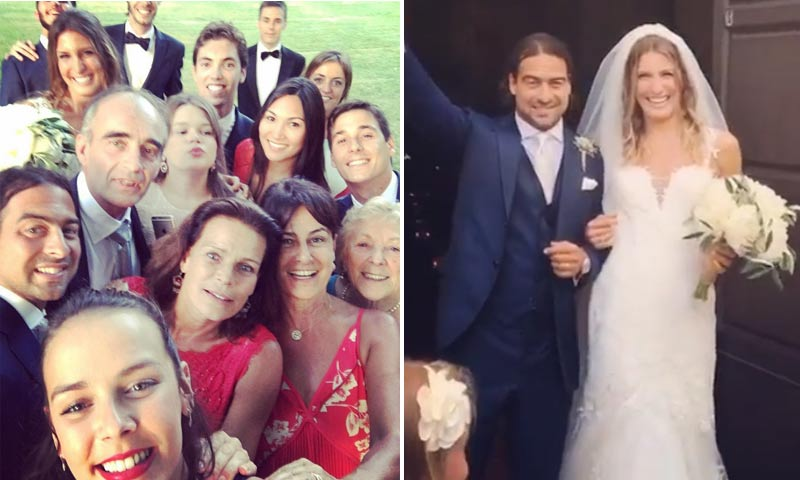 Estefanía de Mónaco y sus hijos, de boda familiar en Italia