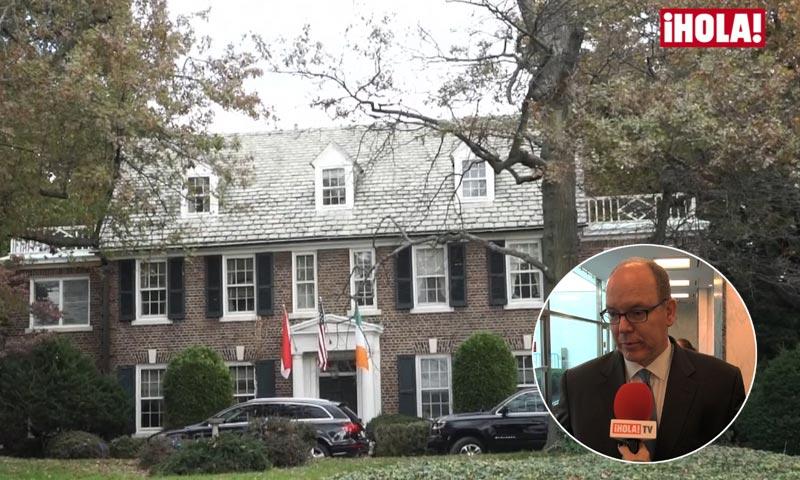 Alberto de Mónaco visita la casa de su madre en Filadelfia tras confirmar a ¡HOLA! TV su compra