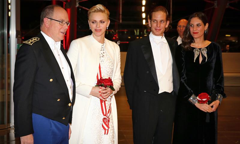 Andrea Casiraghi y Tatiana Santo Domingo se unen al príncipe Alberto en la gala final del Día Nacional de Mónaco