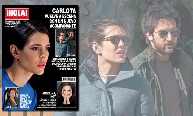 Exclusiva en ¡HOLA!, Carlota Casiraghi, ilusionada con el hijo de Carole Bouquet con quien ha sido fotografiada