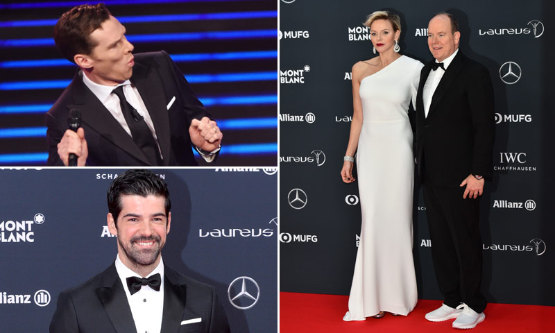 Las zapatillas de Alberto de Mónaco, el baile de Miguel Ángel Muñoz... la cara más divertida de los Premios Laureus