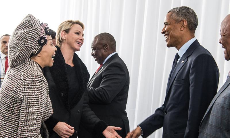 Así ha sido el encuentro entre Charlene de Mónaco y Barack Obama